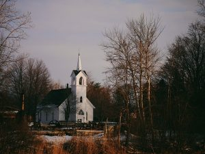 Church Insurance Kissimmee Florida - white church in winter woods