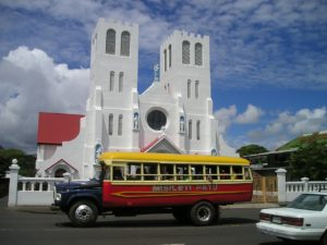 Church Insurance Florida - Church bus parked outside white church