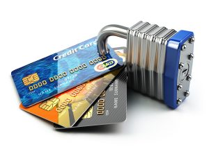 South Carolina Cyber Liability Insurance - Secure payment internet online shopping concept.. Credit cards and padlock. 3d